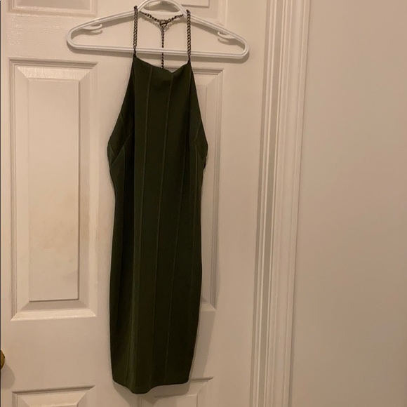 Topshop Dresses & Skirts - Army Green Dress with Chain